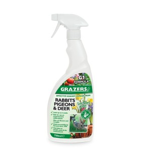 Grazers G1 - Protection against damage from Rabbits, Pigeon, Deer & Geese -  750ml (Ready to use)