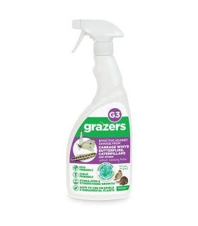 Grazers G3 - Effective against Cabbage White Butterflies, Caterpillars, Aphids & other sap suckers - 750ml (Ready to use)